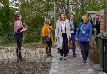 Minister Ollongren bezoekt de Hamplaats